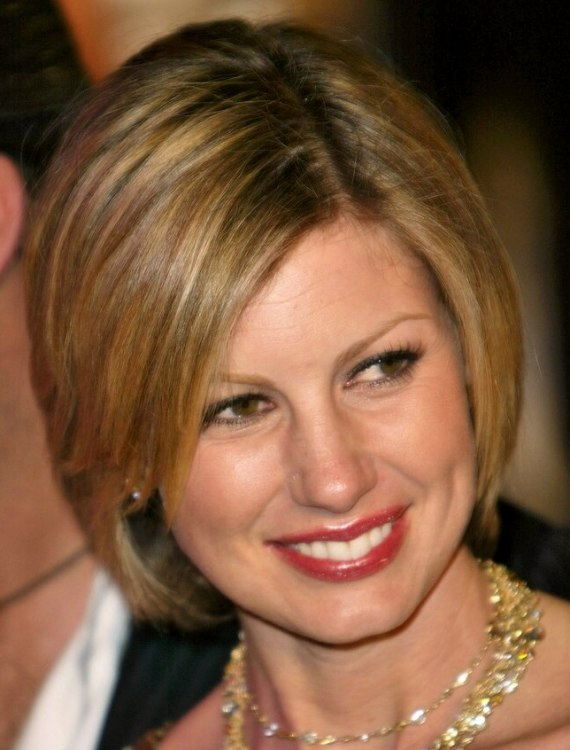 Tremendous Faith Hill Clean And Conservative Bob Hairstyle With Tapered Short Hairstyles For Black Women Fulllsitofus