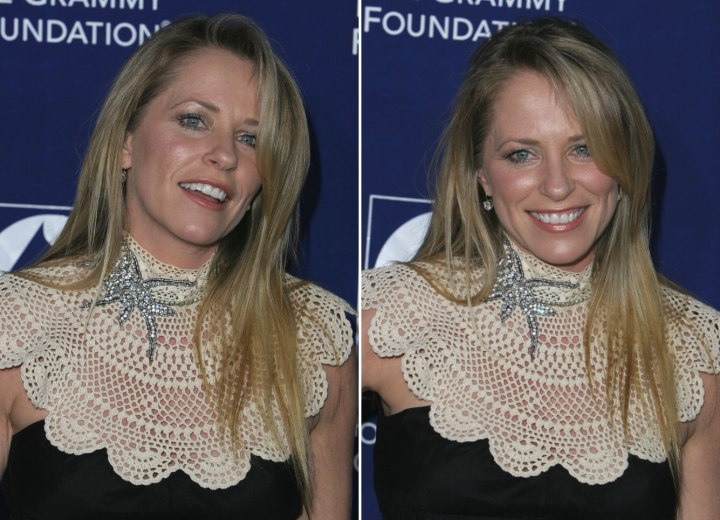 Deana Carter - Long hairstyle with angles on the lower ends