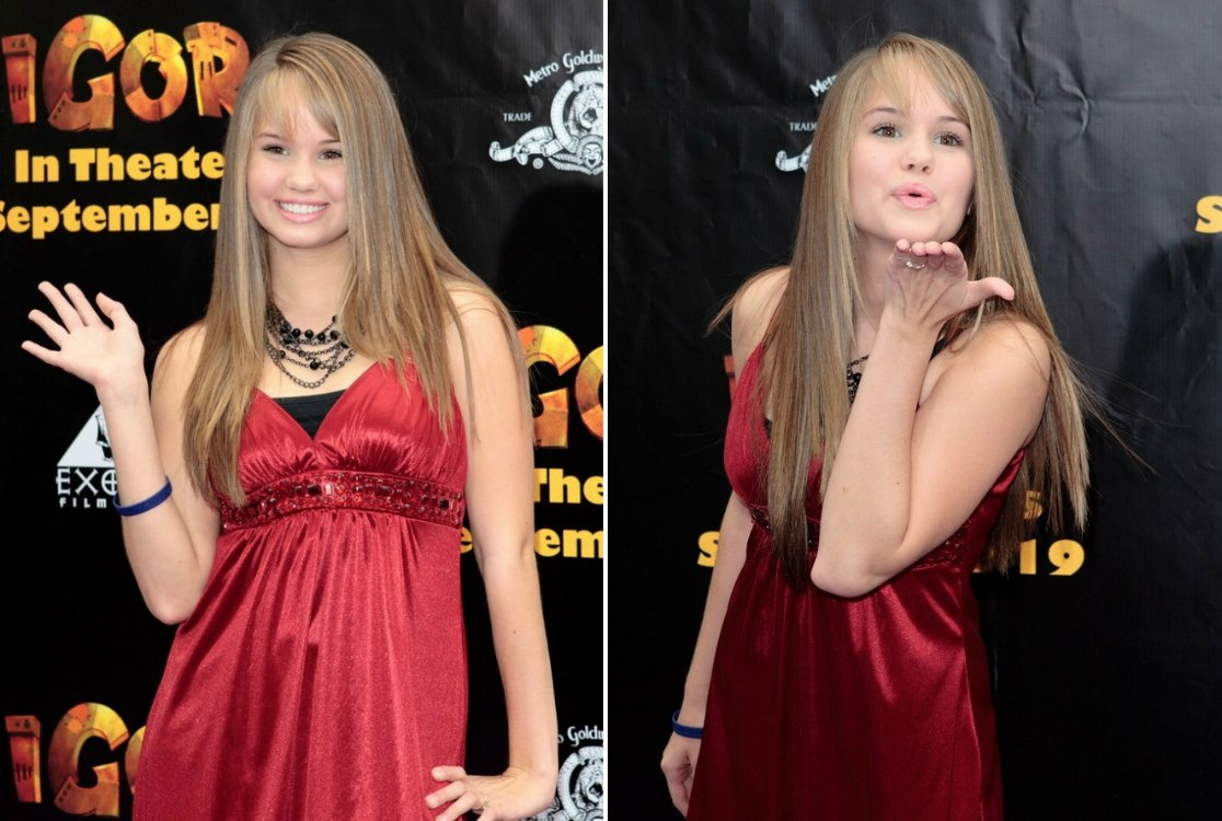 Debby Ryan With Lengthy Straight Hair And Sarah Chalke With Her Hair
