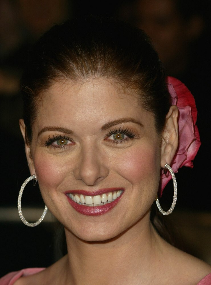 Debra Messing Hairstyle With The Hair Pulled Into A