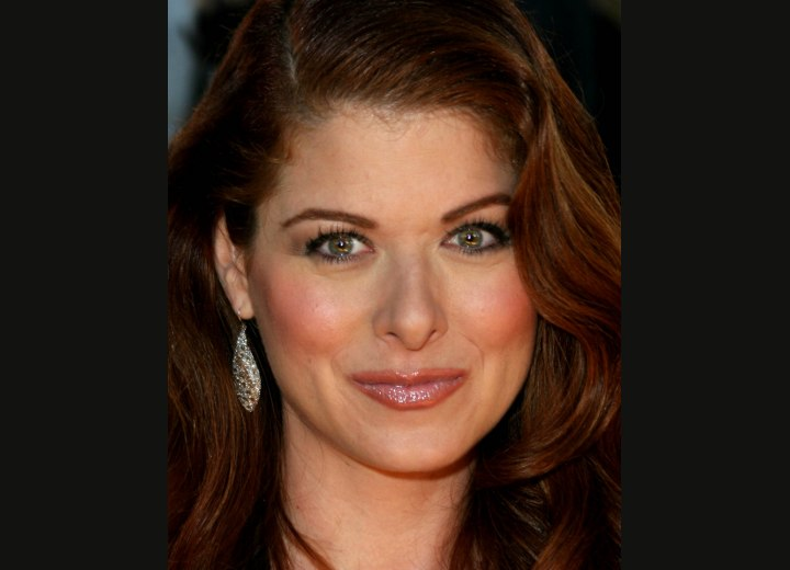 Debra Messing - Long red hair with curls and waves