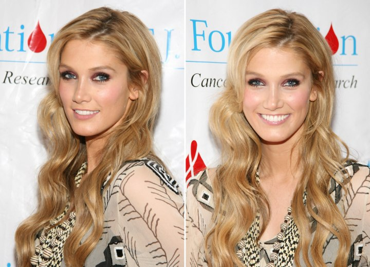 Delta Goodrem - Very long hairstyle with waves