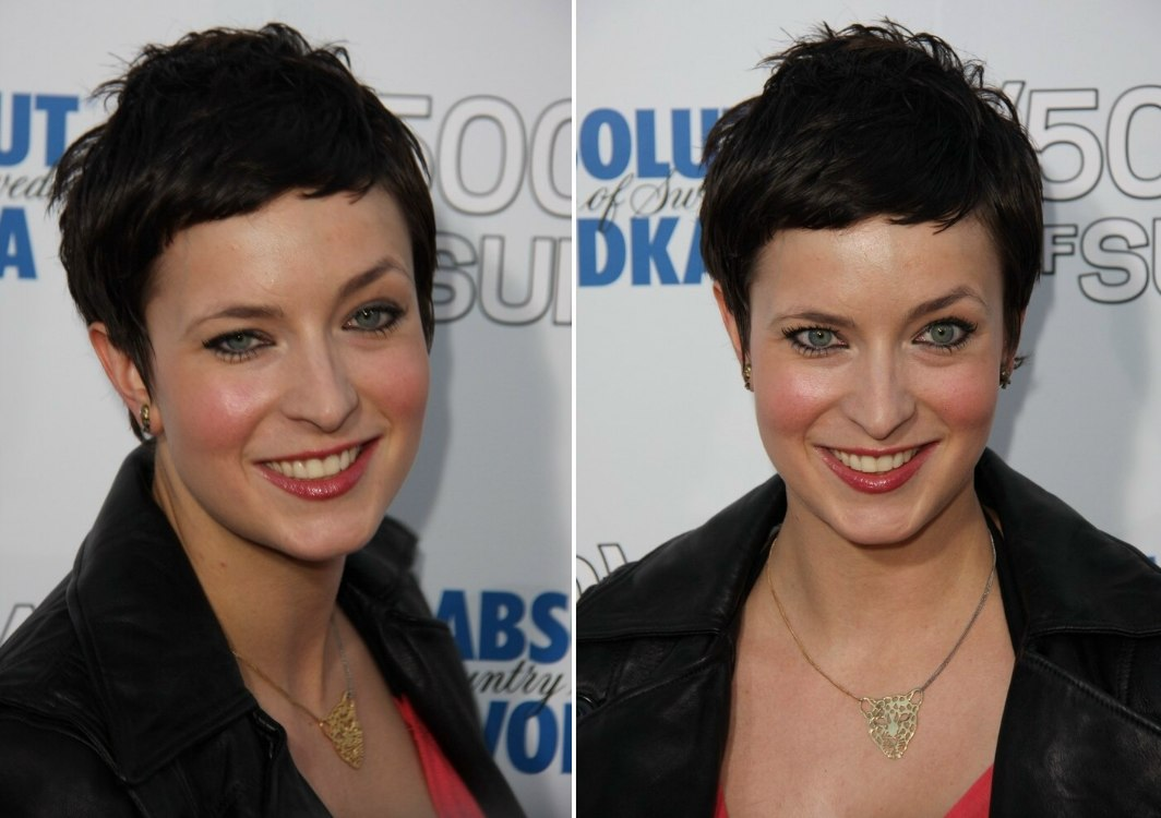 Diablo Cody S Short Pixie Hairstyle And Teri Polo S Long Hair With Easy Going Curls