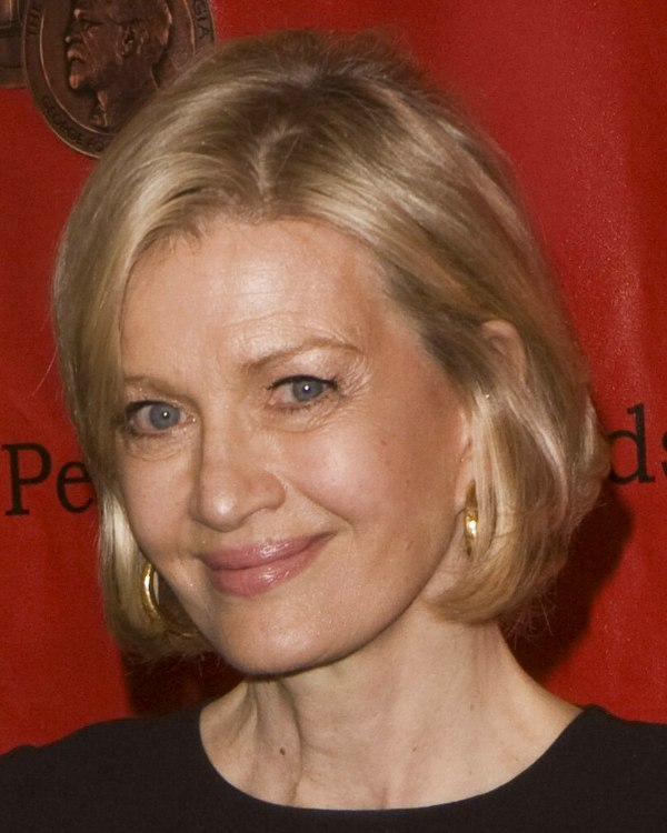Diane Sawyer Short And Just Below The Ears Bob