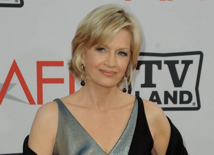 Easy to care for short hairstyle - Diane Sawyer