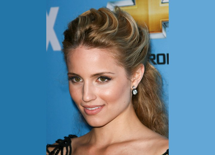 Dianna Agron - Hair away from the face and secured in the back