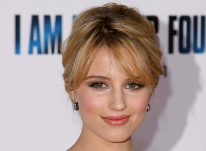 Dianna Agron - Formal hairstyle for straight hair
