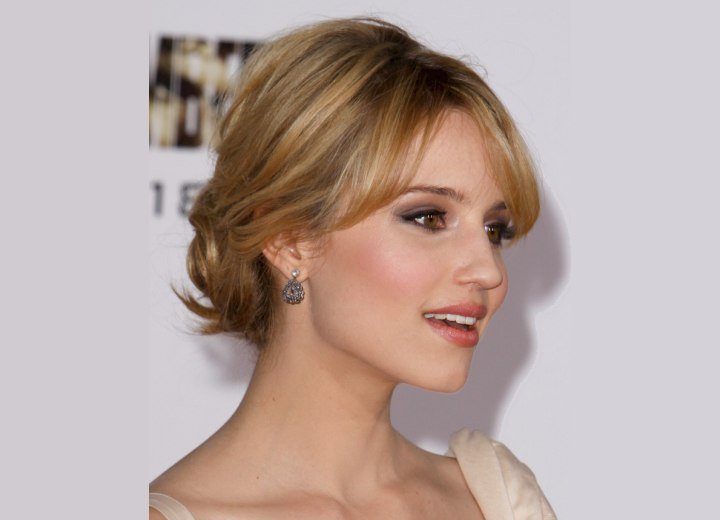 Up-style for straight hair - Dianna Agron