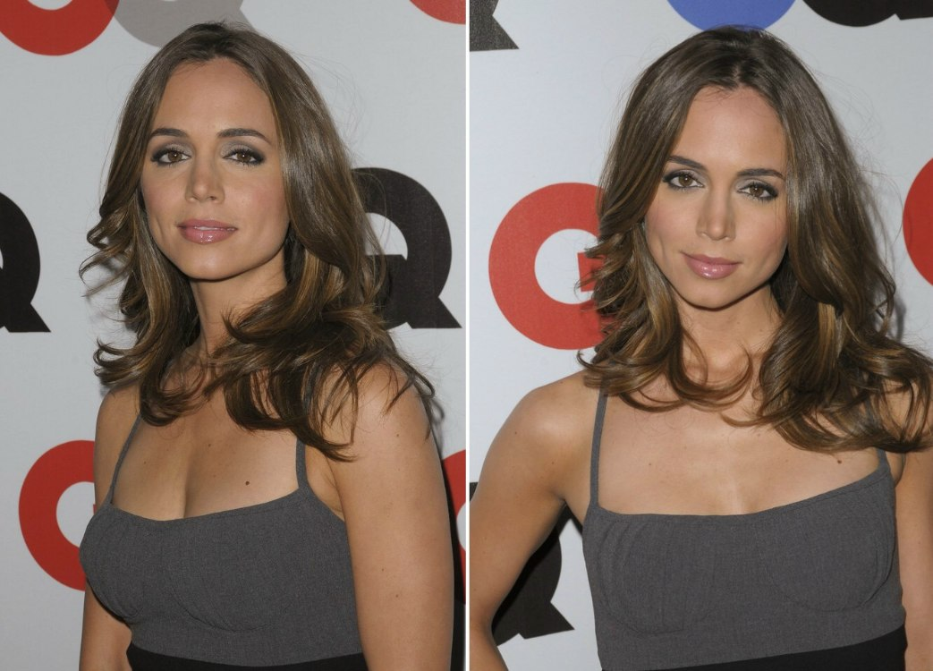 Kelly Packard With Chic Layered Hair And Eliza Dushku With