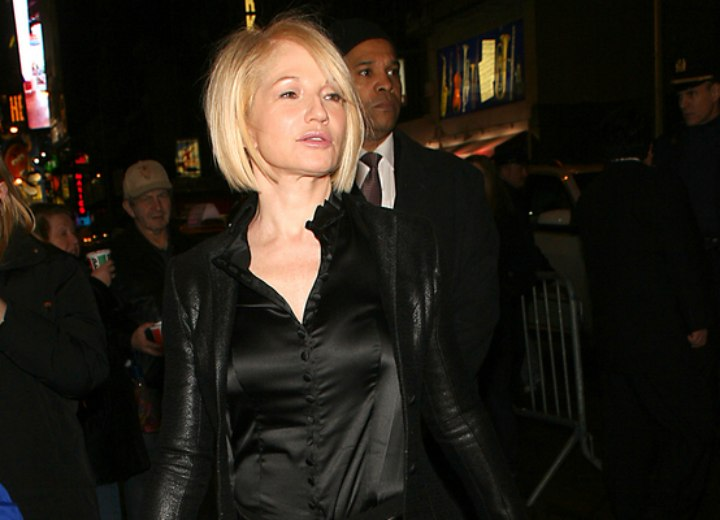 Modern hairstyles for women aged over 50 - Ellen Barkin