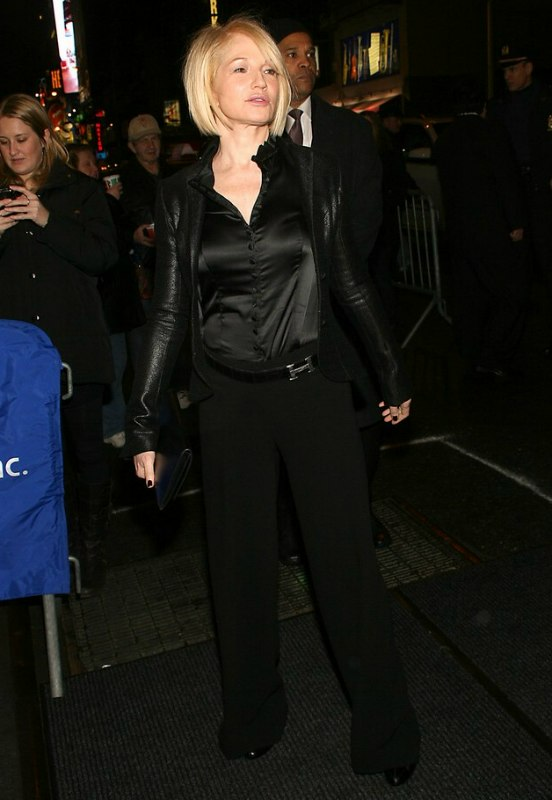 Ellen Barkin With Her Hair Cut In An Easy To Do Trendy