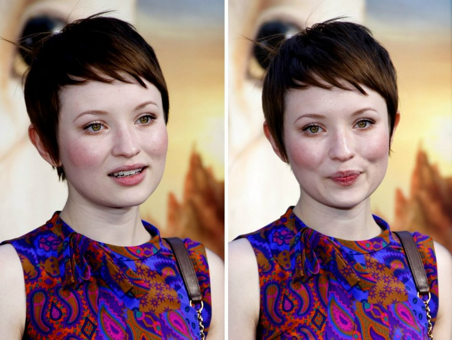 Emily Browning With A Short Boyish Haircut