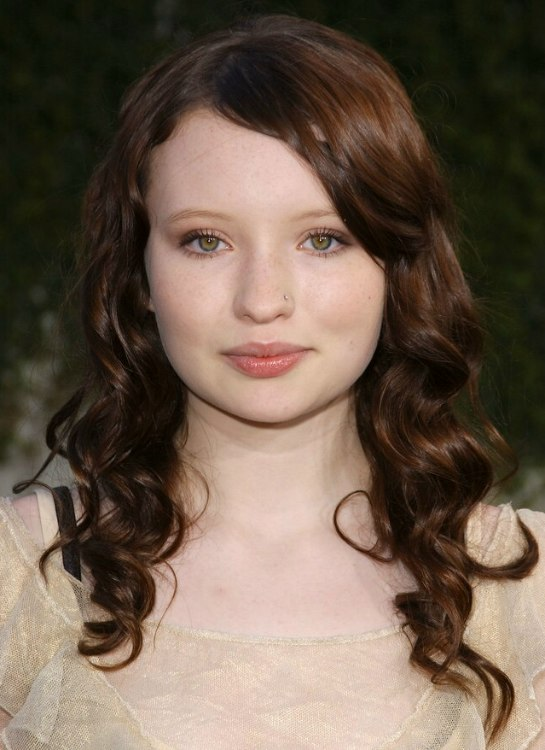 Emily Browning Long Hair Old Fashionably Curled In Spiral Ringlets