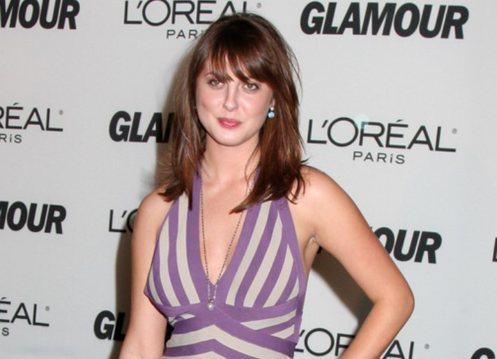 Eva Amurri wearing a purple dress