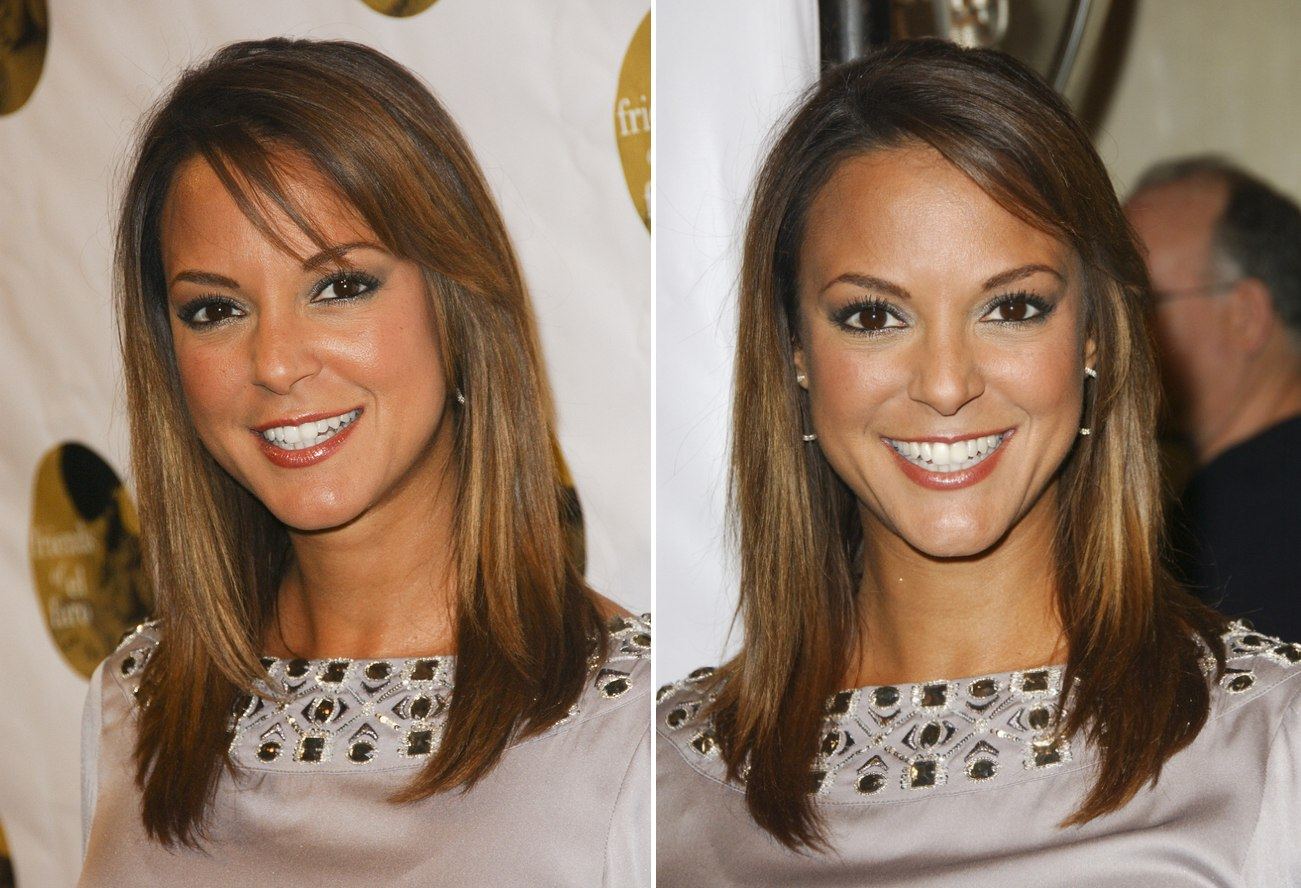 Katharine Mcphee With Angled Long Hair And Eva Larue With Tricolors