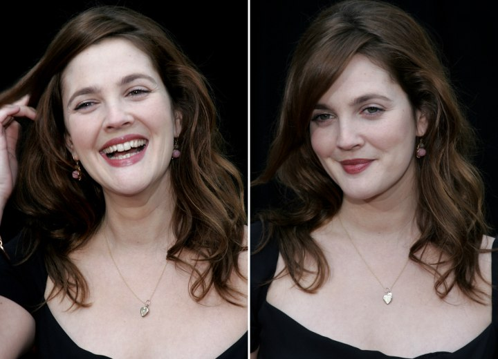 Everyday hairstyle for long hair - Drew Barrymore