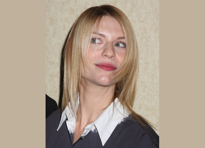 Fine hair with tapering - Claire Danes