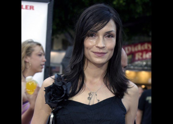 Long hairstyle for women with fine or thin hair - Famke Janssen