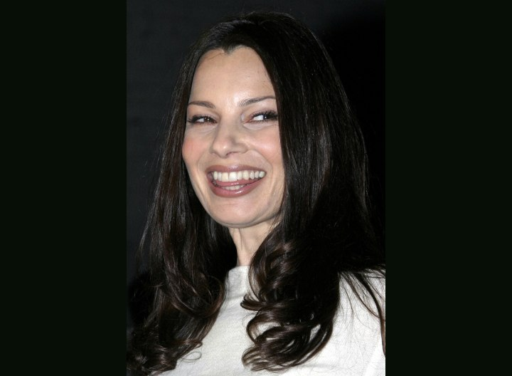 Long hairstyle for active older women - Fran Drescher