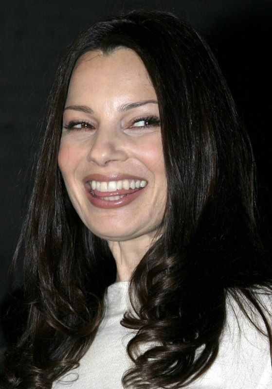 Fran Drescher Long Hairstyle With Curls Below The