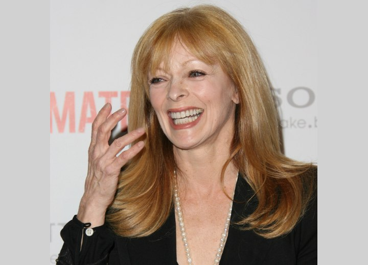 Long hairstyle that makes an older women look younger - Frances Fisher