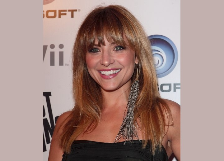 Christine Lakin - Healthy and shimmering long hair