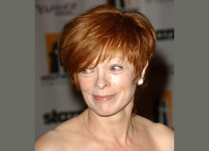 Short haircut that requires little care - Frances Fisher