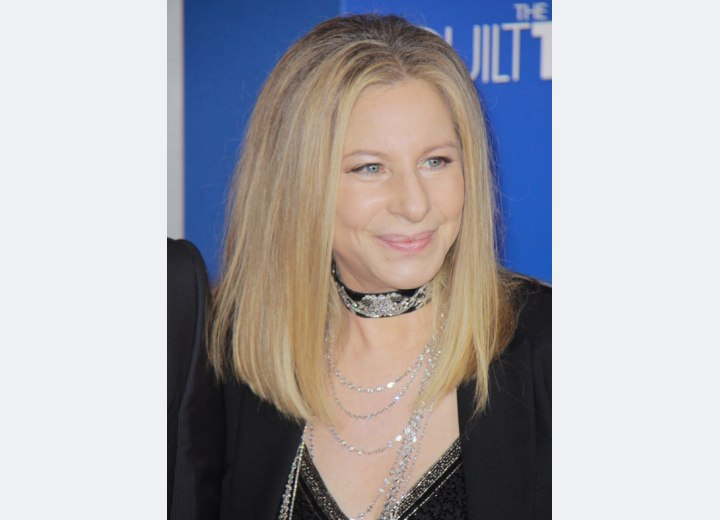 Barbara Streisand - Long hairstyle for older women
