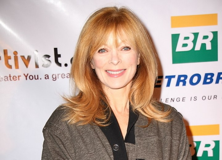Fashionable long hairstyle for older women - Frances Fisher