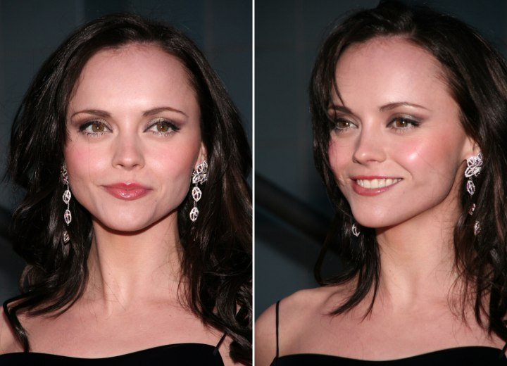 Long hairstyle for a heart shaped face - Christina Ricci