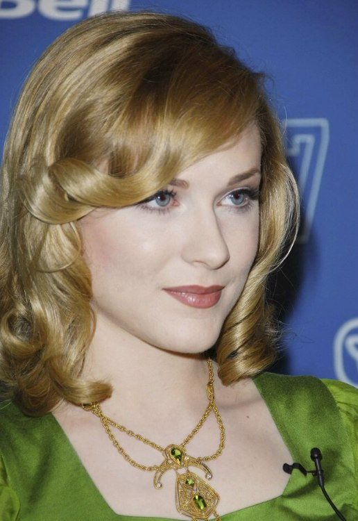 Evan Rachel Wood S Retro Look With Spirals For Medium Long