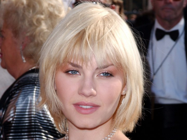 Medium length hairstyle with tapered sides - Elisha Cuthbert