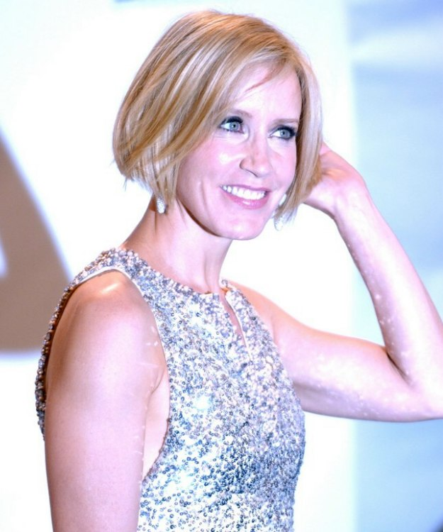 Celebrity angled long bob hairstyles