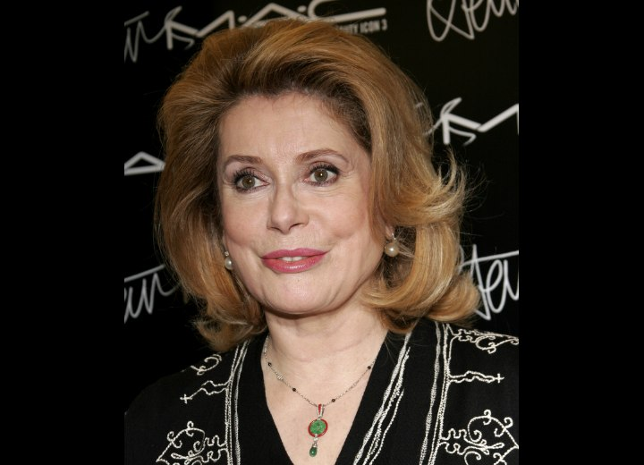 Modern hairstyle for older women - Catherine Deneuve