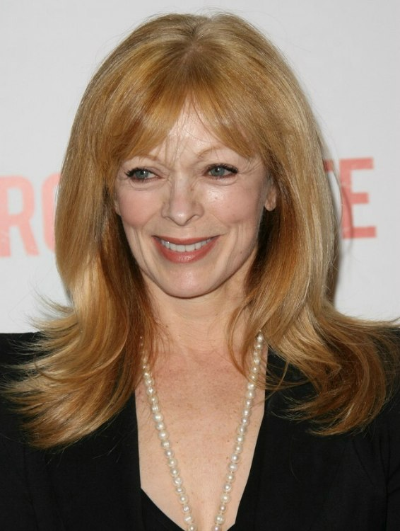 Peachy Frances Fisher Long Hairstyle For Women Aged Over 50 With Bangs Short Hairstyles Gunalazisus