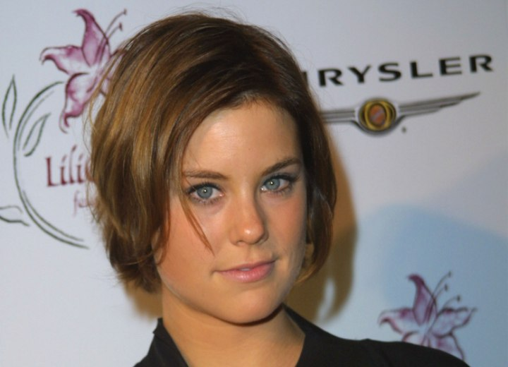 Ashley Williams - Playful short haircut with tapered nape and sides