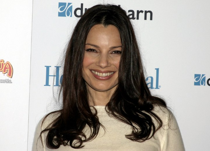 Long hairstyle with S-curls - Fran Drescher