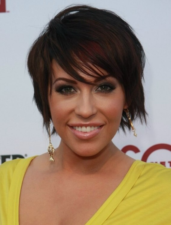 Farah Fath Short Below The Ears Haircut With Slithered Ends And A