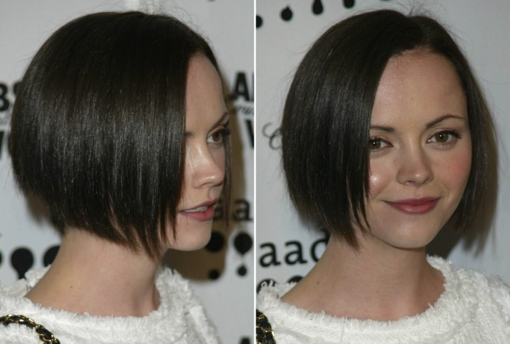 Short bob that hugs a heart shaped face - Christina Ricci