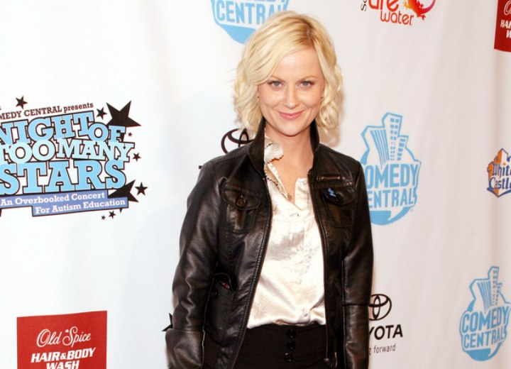 Amy Poehler wearing skirt pants