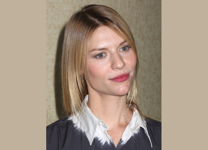 Tapered cut for straight hair - Claire Danes
