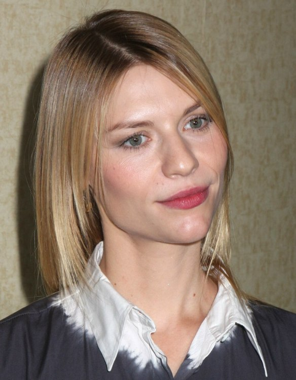 Claire Danes Thin Fine Hair Long Tapered Haircut