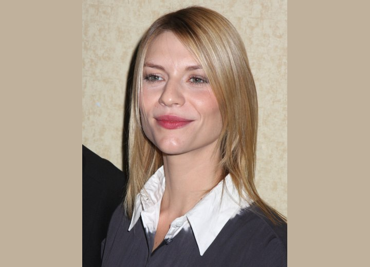 Tapered thin hair - Claire Danes