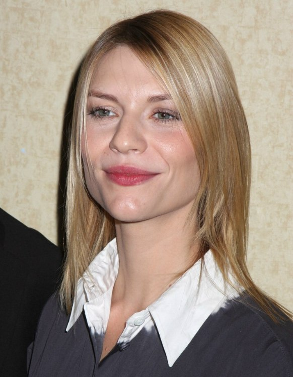 Claire Danes Thin Fine Hair And A Long Tapered Haircut With
