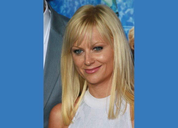 Amy Poehler - Long hairstyle with a razor textured fringe