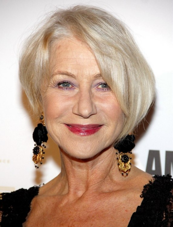 Helen Mirren Trendy And Rejuvenating Haircut For 60 Plus Women