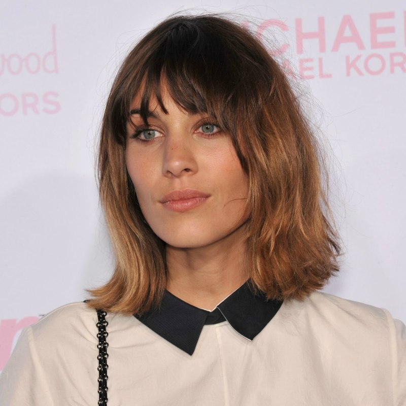 Alexa Chung Above The Shoulders Bob With Flipped Out Ends And