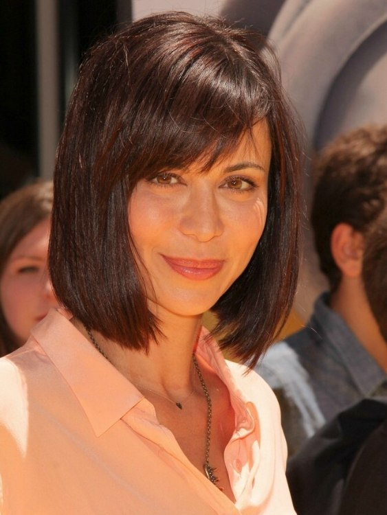 Catherine Bell Above The Collar Bob Haircut That Is