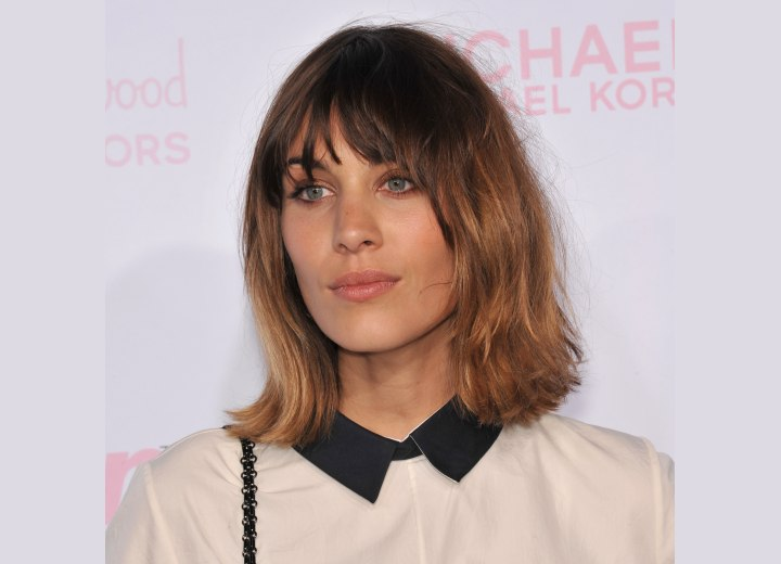 Alexa Chung's above the shoulders bob hairstyle