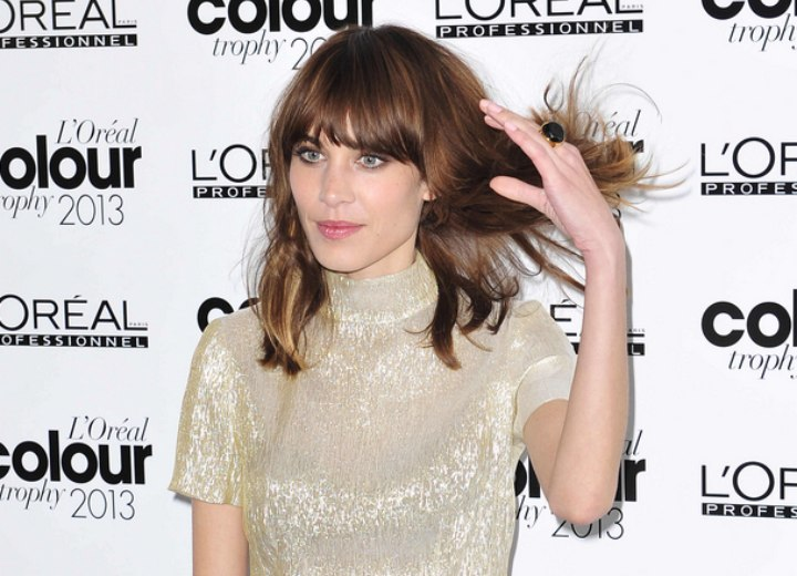Alexa Chung's effortless long hairstyle